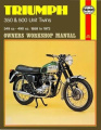 Triumph 350 and 500 Unit Twins Owners Workshop Manual, No. 137: 58-73