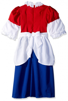RG Costumes 91216 Betsy Ross Red//White Top White Cap Royal And White Skirt