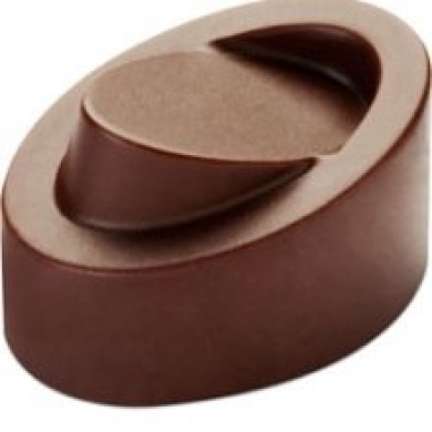 21 Cavities Pavoni Polycarbonate Chocolate Mold Log Wave 17x37mm x 17mm High
