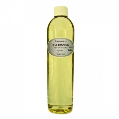 Rice Bran OIL Organic 100% Pure Cold Pressed 350ml by Dr