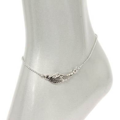V G S Eternity Fashions Fashion Jewelry ~ Wing Accented with Crystals Anklet Anklet 81916 ACR-S