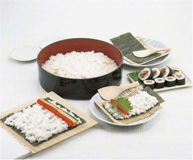 Hangiri Handai Rice Mixing Tub 30043 S 17.5cm with Inner Wooden Plate Traditional Japanese Lacquered Wood Sushi Oke