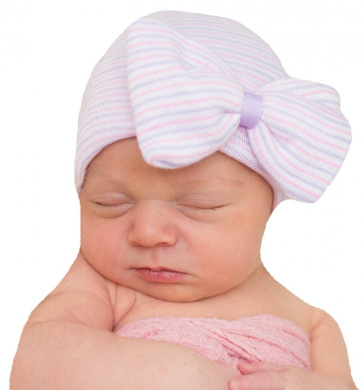 Pink Baby Caps Newborn Baby Hospital Hat Beanie With Bow Cute Soft Sweet Baby Caps TOOGOO R