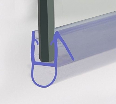 HNNHOME Bath Shower Screen Door Seal For 6-8 mm Glass Up To 16 mm Gap 1450 mm by HNNHOME