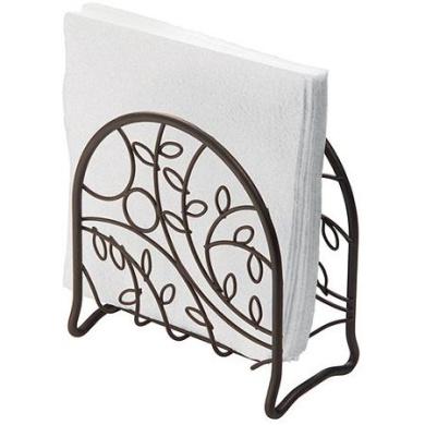 UPKOCH Napkin Holder Decorative Paper Napkin Organizer Rack Stand Freestanding Tissue Dispenser Stainless Steel for Countertops Dinner Tables Picnic Christmas 1pc