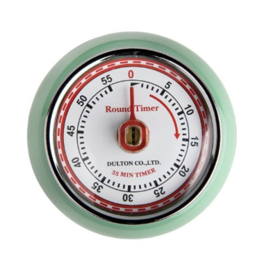 Eddingtons Mint Green Retro Style Kitchen Timer With