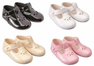 BABY SHOES SOFT SOLE BAYPOD BUCKLE FASTENING GIBSON STYLE MADE IN UK