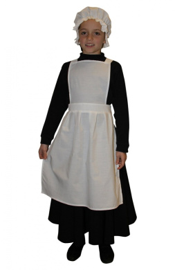 VICTORIAN//1940/'S//HISTORICAL//Grey Nanny//Governess Dress with apron sizes 10-26