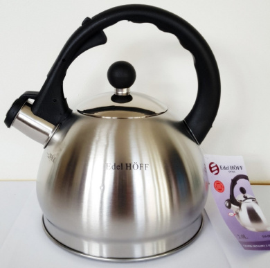 CJK Stovetop Kettles,Stainless Steel Stovetop Kettle With Insulation Handle Safe Induction Gas Hob Teapot For All Stovetops Home Camping color : Silver, Size : 3l