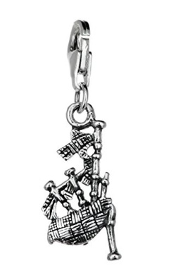 TheCharmWorks Sterling Silver Nessie with Bagpipes Charm