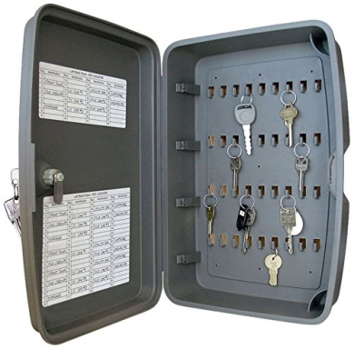 LUCKY LINE PRODUCTS 61800 216 Hook Locking Key Cabinet Gray