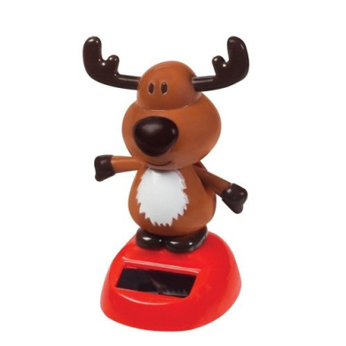 Navillus Solar Christmas Holiday Collection 4 Dancing Reindeer Chic Design