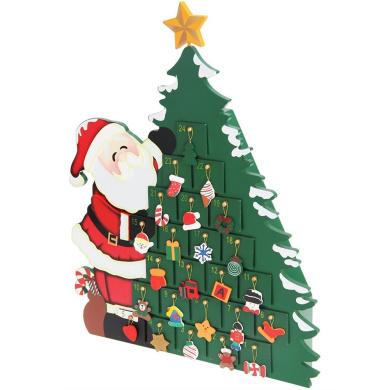 Advent Calendar Reusable Wooden Decor Refillable DIY Christmas Countdown Gift Surprise