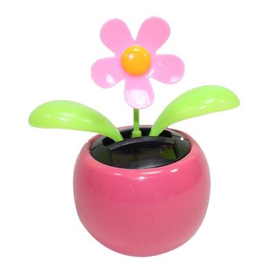 Potato001 Funny Solar Power Dancing Car Decor 2Pcs//Set Flower Pot Solar Powered Swing Toy Car Dashboard Ornament Kids Gift Pink