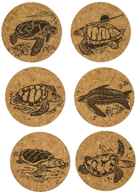 Multicolor Copper Flake Set of 4 Thirstystone N497 Cork Coasters