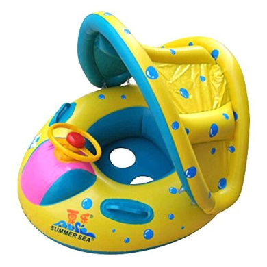 Starmond Baby Pool Float with Canopy Inflatable Swimming Floats for Kids