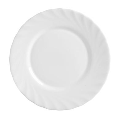 6 piece Arcoroc Harena Uni black Dessert plate flat 19cm
