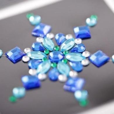 50 Self Adhesive Crystal Diamante Rhinestone Stick on Moon Rock Gems CB70GR