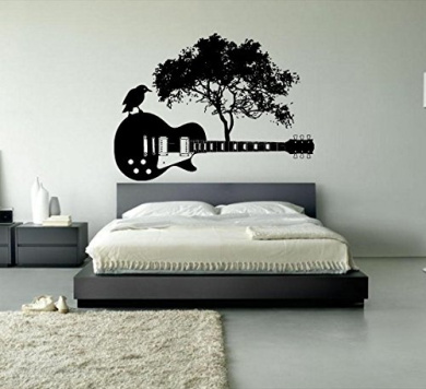Wall Window Sticker Decal Electric Guitar Music Band Tree Roots Rock Music Boys Teenager Room Decor 1185b By Bestickers Shop Online For Baby In New Zealand