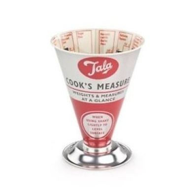 Tala Retro Kitchen Measuring Set Trio Dry Measure Plastic Cups and Spoons
