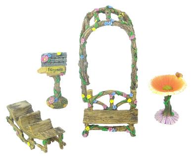 Miniature Dollhouse FAIRY GARDEN ~ Rust Brown Scalloped Metal Rocking Chair