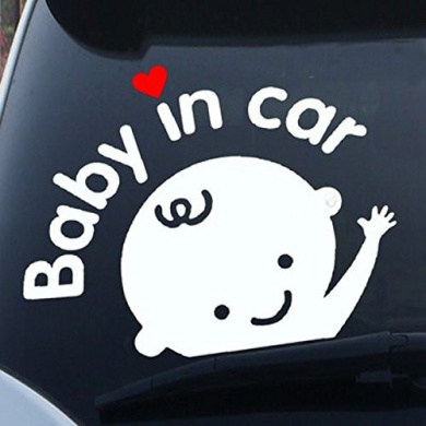 FAMKIT Car Decals Baby ON Board Sticker Car Decals Safety Signs Self-Adhesive Easy to Install Waterproof Long to Last