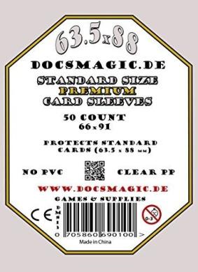 50 Docsmagic.de Premium Mini American Board Game Sleeves 41 x 63 Small US