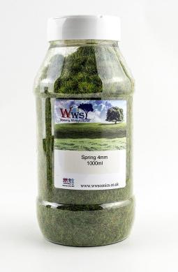Spring Static Grass 1000ml by WWS Scenery 4mm Model Railway Terrain