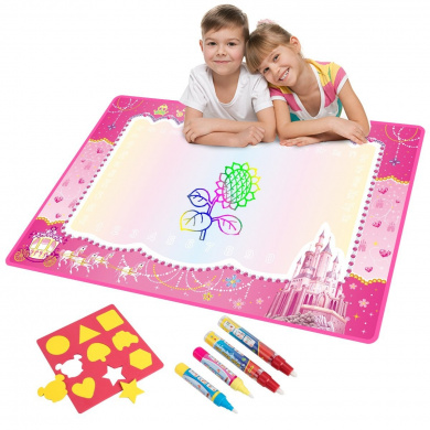 Vidillo Doodle Drawing Mat Large Magic Water Drawing Painting Travel Doodle Mat Sketch Board 4 Magic Pen Best Gift Set Learning Writing Educational Toy Boys Girls Gift Size 29 X 19