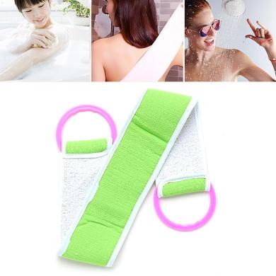 HEALLILY Back Scrubber Exfoliating Scrubbing Strap Towel Back Washer for Men 2pcs