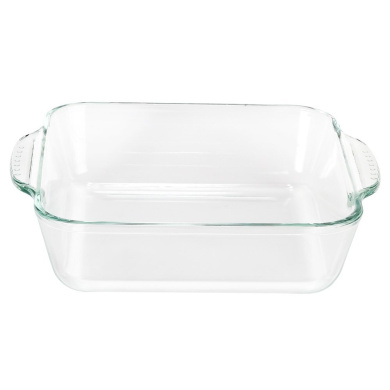 Glass Bohemia Cristal 093/012/315/Play of colors Cooking Square Bowl 2,8/L with Lid Made From Heat Resistant Borosilicate Glass Baking Dish 34.8/x 20.3/x 13.2/cm