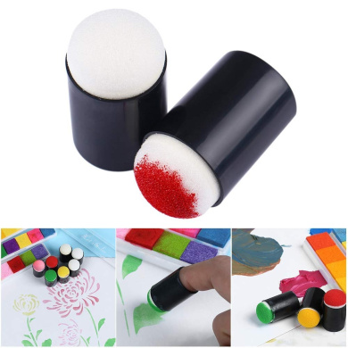 RONSHIN Office Supplies for Sponge Daubers for Finger Daubers Sponger Foam Applying Ink DIY Crafts Scrapbooking Painting Tool