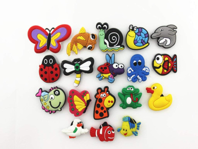18pcs cute little creatures shoe charms for croc