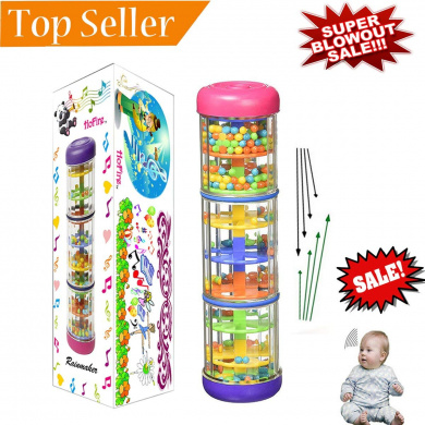 Bangle009 Musical Toy Toddler Kids Rainmaker Tube Rain Stick Musical Percussion Instrument Party Toy