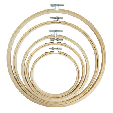 Misscrafts Mini Wood Embroidery Hoops 8 Sets Oval for Pendants Necklace Jewellery Ornament Making Craft