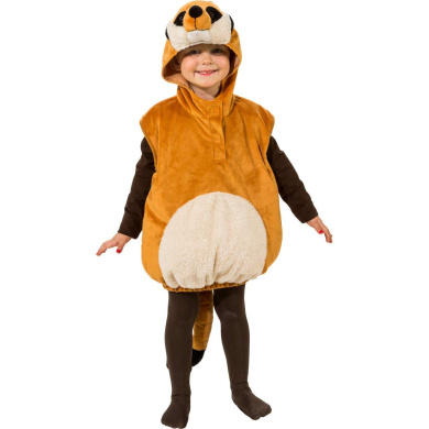 World Book Day Meerkat Animal Costume Tabard and Headpiece Age 3-6 Years
