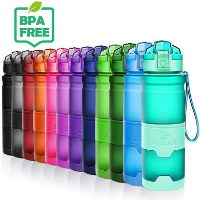 Sports Water Bottle BPA Free with Times to Drink/&Filter Leak...