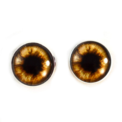 100pcs 3//4//5//6//7//8//9//10//12//14mm Glass Eyes on Wire Amber Toy Teddy Eyes...