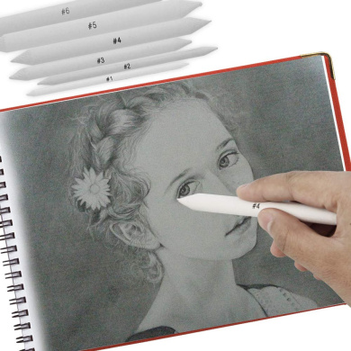 Renxinu Sketch Pencil,White Professional Art Drawing Sketching Pencils School Stationery Sketch Pencil Art Charcoal Pencil Pack of 12