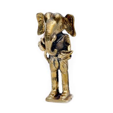 Vietguild/'s Dancing Ganesh Bronze Figurine Statue Amulet
