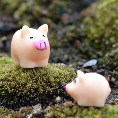 6Pcs Cute Yoga Fitness Poses Pigs Figures Cartoon Animal Crafts for Micro Fairy Garden Decoration Ornaments Home Decor Birthday Cake Toppers Toys Kids Gift Kimkoala Miniature Pigs Figurines Toys