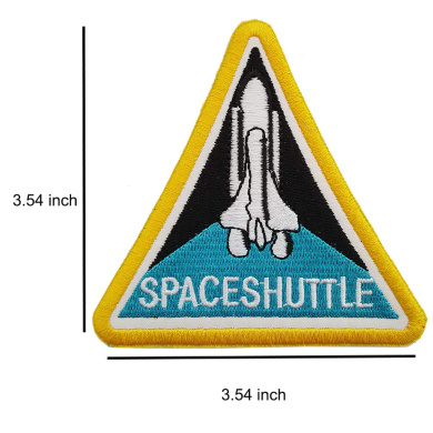 Iron on//Heat Transfer Backing Lightbird NASA Space Patches 6 Pieces Embroidered Iron On//Sew On Space Patches,US Flag Patch