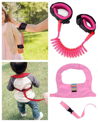 Child Safety Wrist Link for Toddlers Babies and Kids FEIGO Anti-Lost Wrist Flexible Child Walking Strap Child Safety Strap Anti Lost Wrist Walking Hand Belt Anti Lost Safety Wrist Link Belt