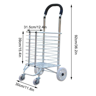 Color : Red BHDYHM Aged Supermarket Shopping Trolley,Shopping Grocery Foldable Cart,Folding Shopping Cart,Portable Trolley,Climbing Stair Trolley,Trolley,Luggage Cart