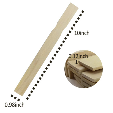 KINJOEK Unfinished Natural Wood Craft Sticks for DIY Popsicle Crafts Projects Wavy Jumbo Wood Fan Handles Wedding Party Decor 400 PCS 8 Inch Length/ Paint Sticks