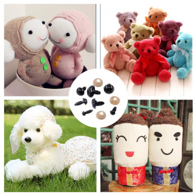 Kofun 100pcs 10 mm Plastic Safety Eyes For Teddy Bear Doll Animal Puppet Craft