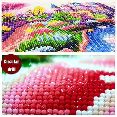 Soleebee DIY 5D Full Drill Diamond Painting by Number Kit Canvas Crystal Rhinestones Painting Embroidery Cross Stitch Arts Craft Home Wall Decor 30 x 30cm - Bell Rose