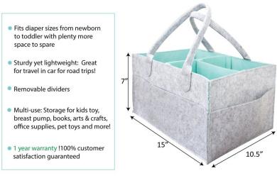 Nicolarisin Baby Diaper Diaper Storage Bag Infant Nappy Storage Bin Baby Diaper Wipes Bag Caddy Organizer Basket Clothes Storage Bag Organizer