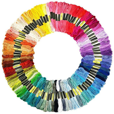 Artilife Embroidery Floss Threads Premium Friendship Bracelets Strings Rainbow Skeins for Cross Stitch Kit Embroidery Craft Projects 80 Colors 16 Needles
