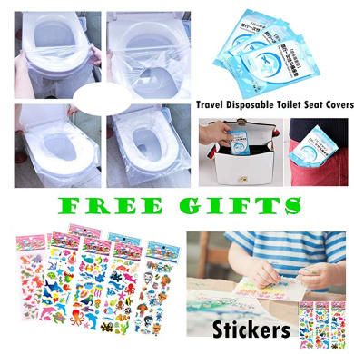Girls Besfair Toddler Toilet Seat Cover Portable Reuseable Travel Toilet Training Seat Liner for Babies Non Slip Silicone /& Anti-Slip Clips Boys Foldable Potty Seat for Kids Plus Buggy Bag